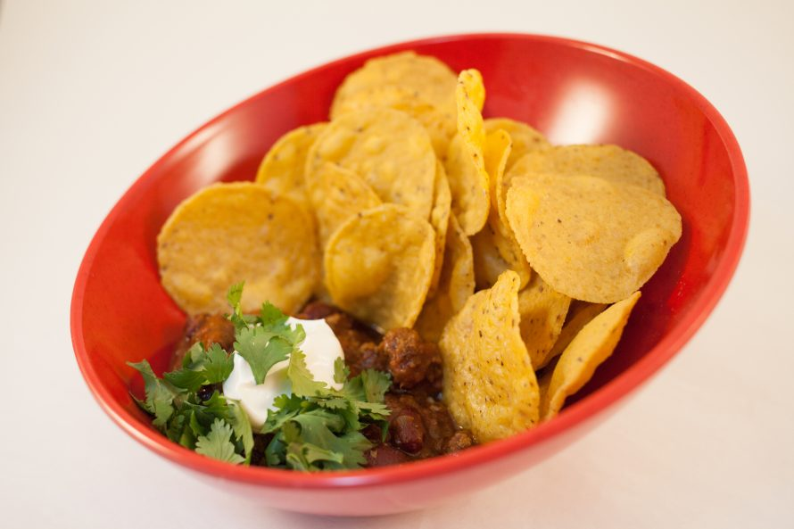 Le chili à Pépé et nachos frits-Roulotte à Patates